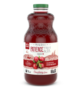 Pure organic cranberry juice