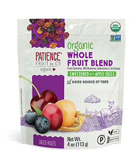 Whole Dried Fruit Blend, sweetened with apple juice