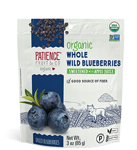 Whole dried wild blueberries