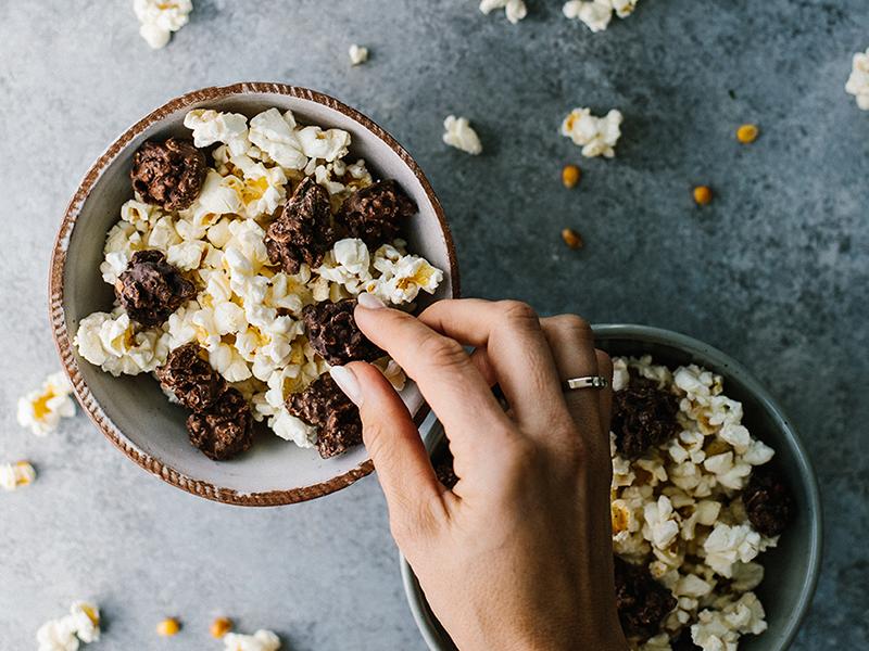chocolat-chococrunch-popcorn-collation-santé-cranberry-canneberges