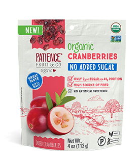Organic Dried Cranberries with No added Sugar and Sliced