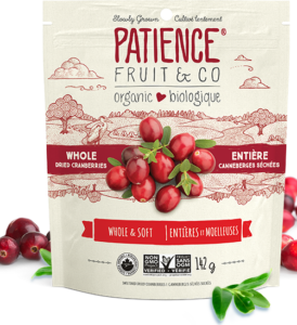 Organic Whole Dried Cranberries, sweetened with cane sugar