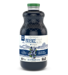 Jus de bleuets sauvages bio, 100% pur et sans sucre ajouté